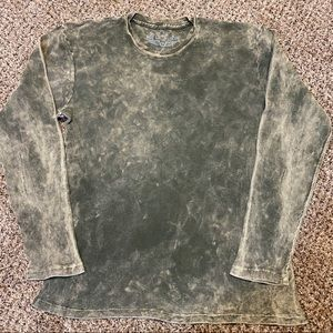 Distressed dystopian grunge thermal long sleeve